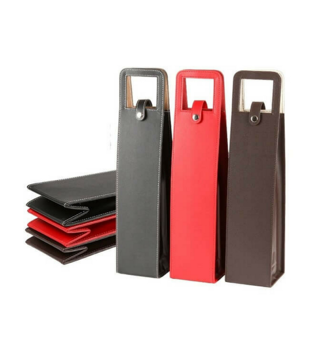 PU Leather Wine Bottle Bag